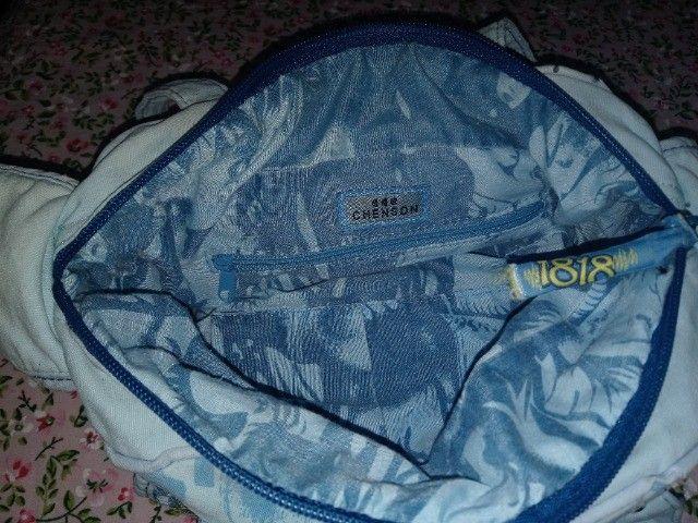 Bolsa em Tecido Azul Chenson 1818 - Foto 5