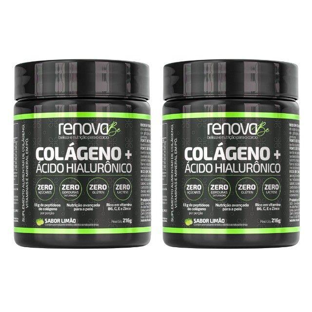 Renova Be Colágeno + Ácido Hialurônico e Vitaminas Para Pele, Sabor Limão e Cranberry  - Foto 4