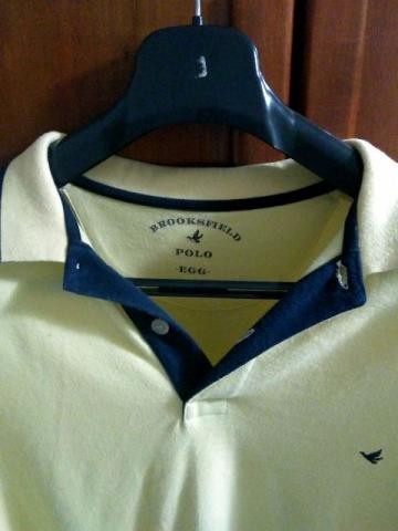 Camisa Polo Brooksfield Amarela EGG