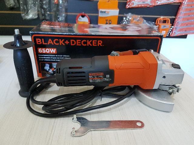 "Esmerilhadeira / Lixadeira 4 1/2"" Black & Decker 650w - 220v G650 - Foto 4"