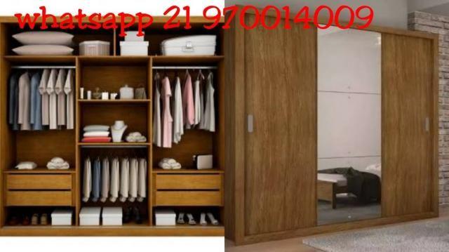 6732a9c25 Guarda-Roupa Casal com Espelho 3 Portas de Correr Veneza Luxo Rufato-Pague  em