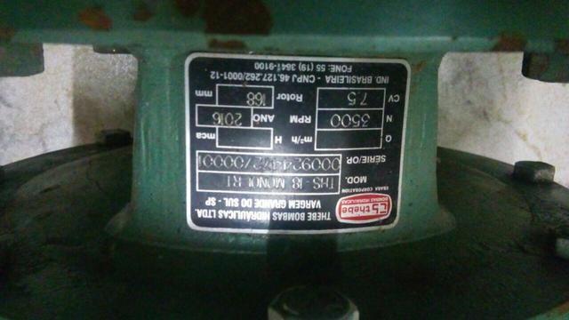 Bomba de irrigação 7,5cv