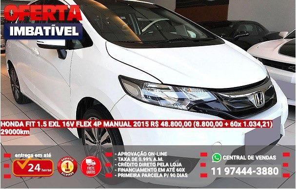 honda fit 1.5 exl 16v flex manual 2015 - 2015
