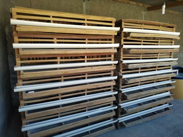 Vendo 2 gaiolas para codorna capacidade pra 700 codornas - Foto 2