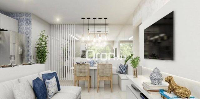 Apartamento com 2 dormitórios à venda, 56 m² por R$ 198.000,00 - Condomínio Santa Rita - G - Foto 4