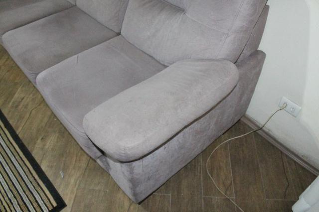 Sofá Cinza c/ Chaise Reclinável 2,17m - Foto 6