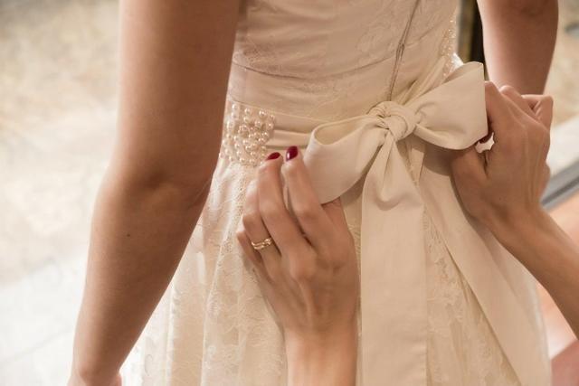 Vestido de noiva off-white com renda - Foto 5