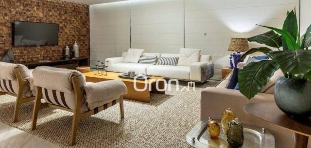 Apartamento com 4 dormitórios à venda, 440 m² por r$ 2.971.000,00 - setor marista - goiâni