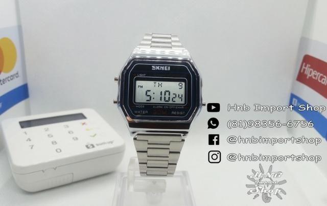 a50b8a6fd1f Oferta) Relógio Skmei retrô 1123 à prova d água - Bijouterias ...