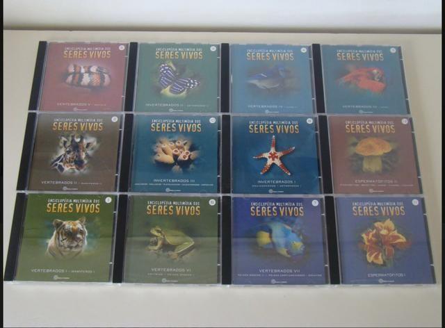 Enciclopédia Multimídia CD-R Para PC Dos Seres Vivos Do Vol. 1 Ao 12 do ano de 1998