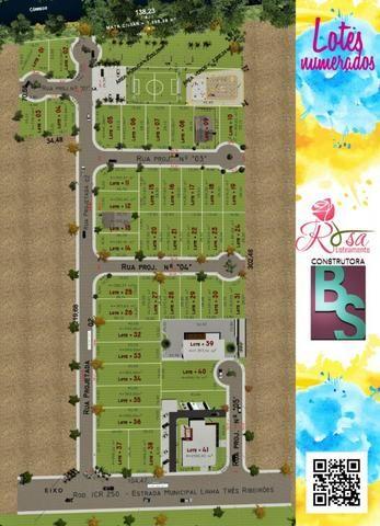 Loteamento rosa, icara, bairro liri - entrada + saldo em 180x - Foto 2