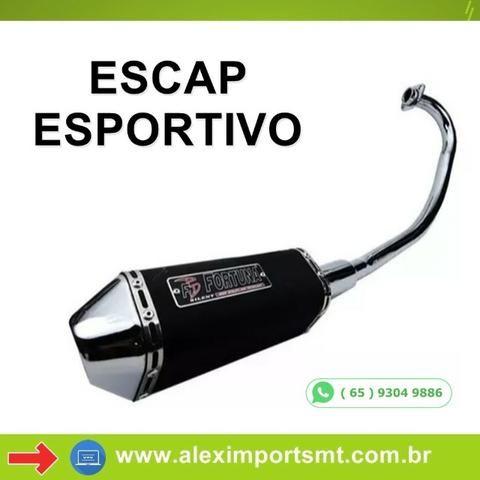 Escapamento Descarga Mini Fortuna Trioval Titan Fan 160 - Alex Imports Mt