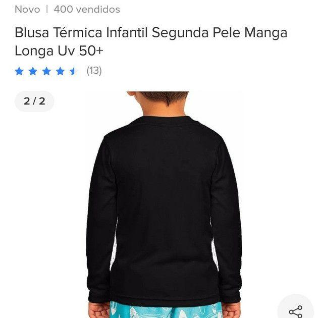 Camisa com proteção ver adulto infantil