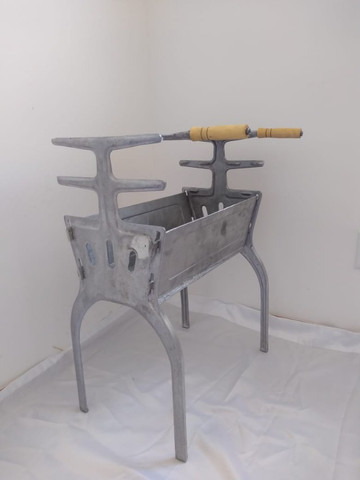 Churrasqueira de alumínio batido - Foto 4