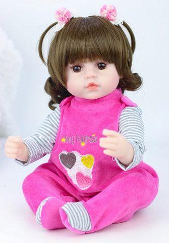 Boneca bebê Reborn Menina realista a pronta entrega - Foto 5