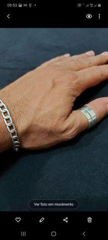 Anel de prata lindo!!!! Fé e Força!!!!! Top - Foto 5