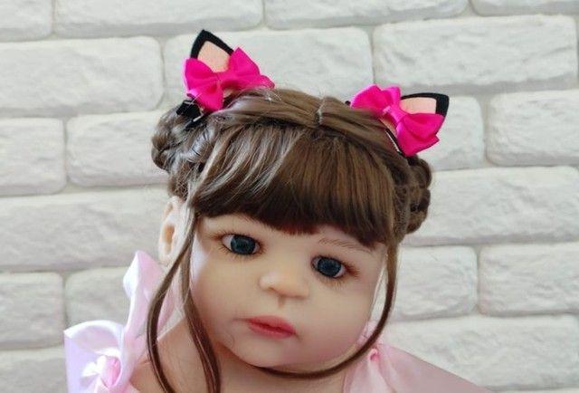 Bebê Reborn Keiumi Toda em Silicone, Menina  55 cm  Entrega Grátis e Imediata  - Foto 6