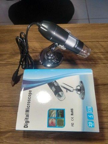 Microscópio digital USB  zoom 1600×