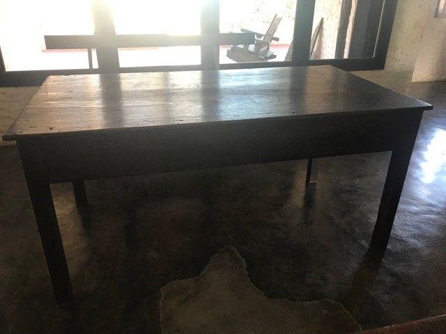 mesa antiga de jacarandá em ótimo estado - Foto 2