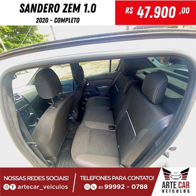 Renalt sandero zem 1.0 completo 2020!! - Foto 3