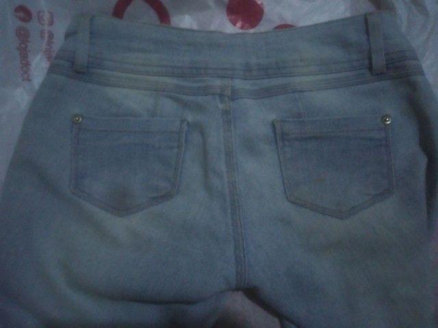 Calça Jeans Cintura Baixa Feminina - Foto 5
