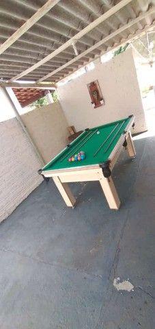 Mesa Tentação MDF Cor Cerejeira Tecido Verde Mod. TXFV2519 - Foto 2