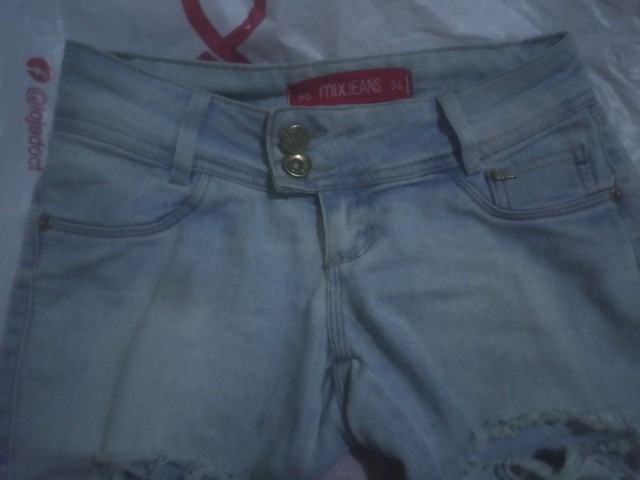 Calça Jeans Cintura Baixa Feminina - Foto 4