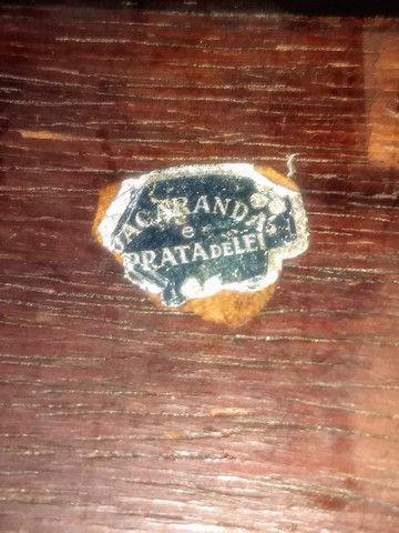 caixa porta jóias antiga de madeira jacarandá e prata de lei - Foto 5