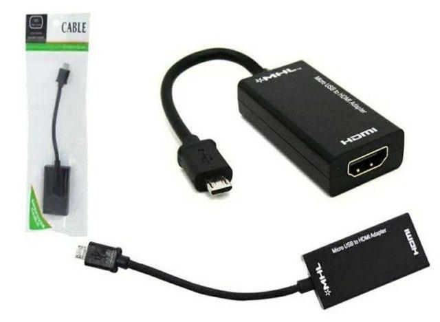 Cabo Adaptador V8 Micro Usb Hdmi Mhl 2.0<br><br>