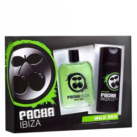 Kit Perfume Pacha Ibiza Wild Sex edt 100ml shampoo 75ml