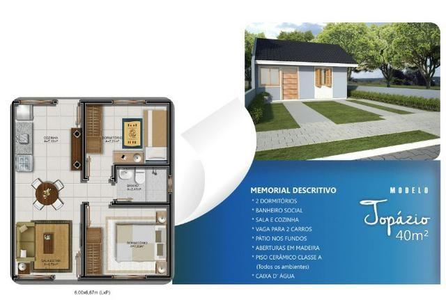 Casa em Nova Santa Rita, em terreno amplo, não é geminada - Foto 2