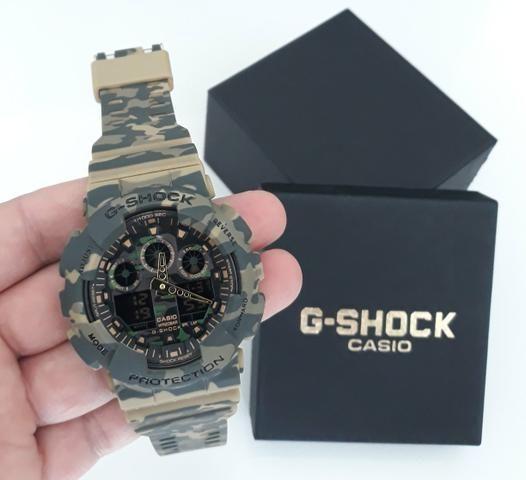 02daa825b05 Relógio G Shock Casio Camuflado Exército - Bijouterias