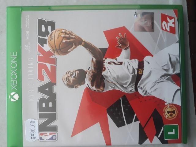 Jogo de xbox one NBA 2K18 semi novo