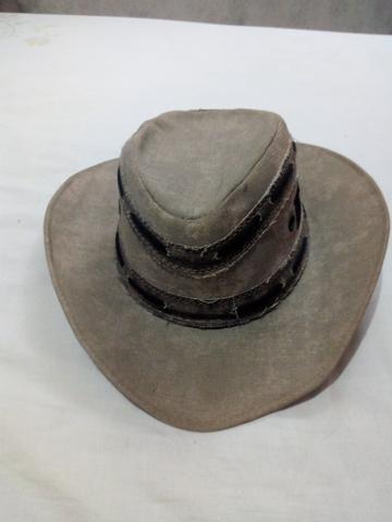Vendo um Chapéu Cowboy de Couro simples cor cinza (veja descrição) - Foto 2