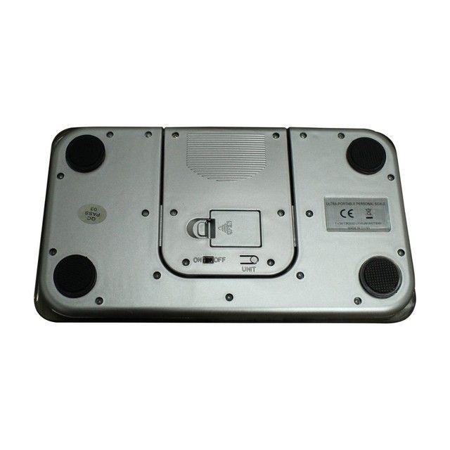 Balança Corporal Digital Vidro Temperado Preta Até 180kg,NOVA/ACEITO TROCAS - Foto 5