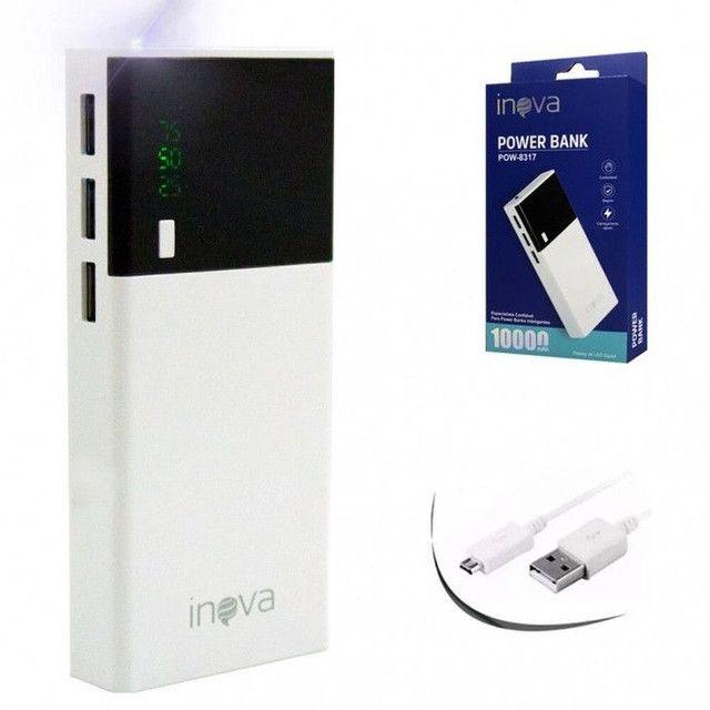 Carregador portátil inova 10.000mah 3 USB - Foto 4