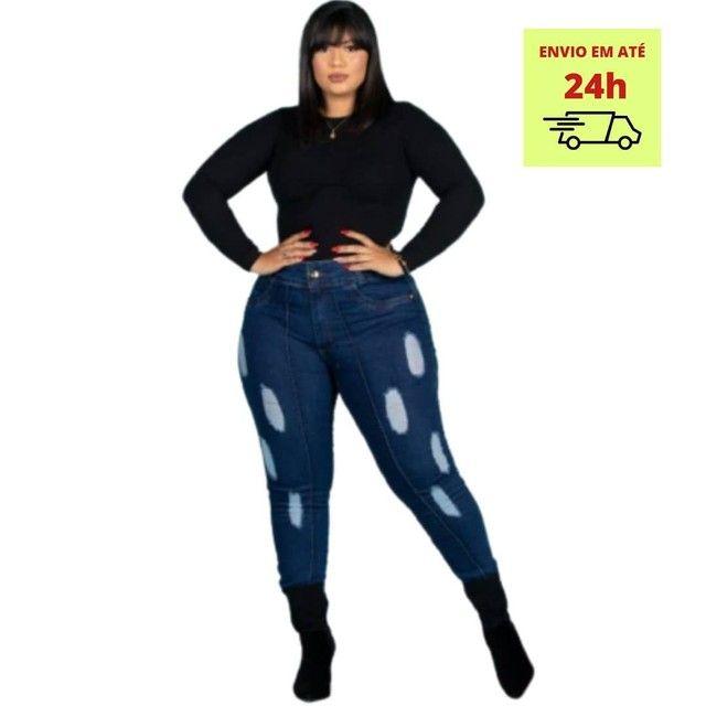 Calça jeans plus size com Lycra 46 ao 52 - Foto 2
