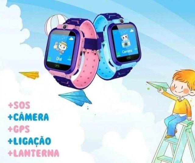 Relógio Smartwatch Infantil Com Gps - Até 6x sem juros! - Foto 4