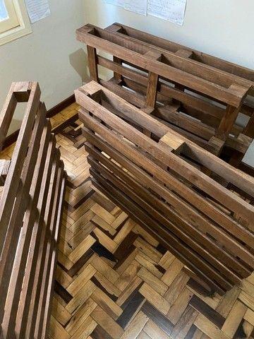 4 pallets + colchão de solteiro (Herval Cannes D33) em perfeito estado - Foto 4