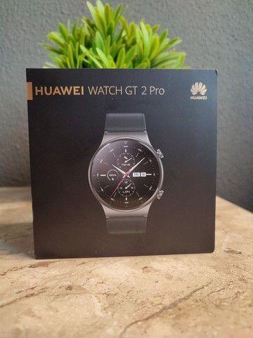 Huawei watch Gt2 Pro , oxímetro Spo2,gps, vidro de safira + Titânio, smartwatch