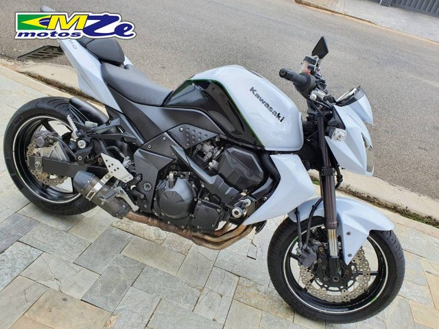 Kawasaki Z 750 2010 Branca com 64.000 km - Foto 9