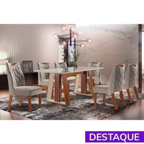 Conjunto Mesa Delta e 6 Cadeiras Deli - Catálogo completo via whats