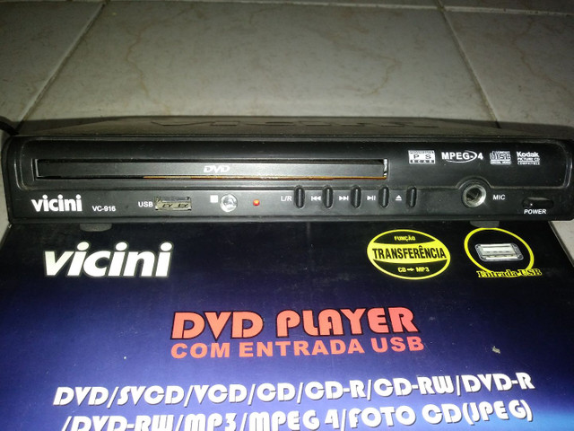 DVD player c entrada usb na caixa - Foto 2