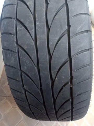 Rodas aro 20 com pneus meia vida  - Foto 6