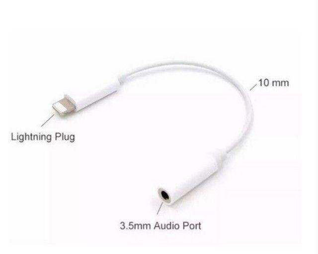Adaptador iPhone 7 8 X 11 Aux P2 Lightning P/fone De Ouvido - Foto 3