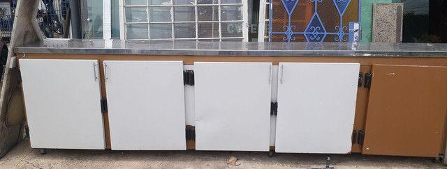 Balcão seco de 5 portas c/tampa de Inox - Foto 3