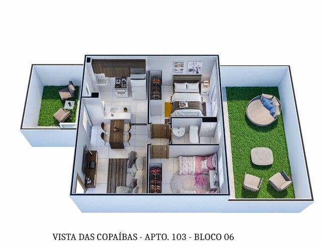 Apartamentos 2 quartos 42m com elevador no planalto | Vista das copaibas - Foto 16