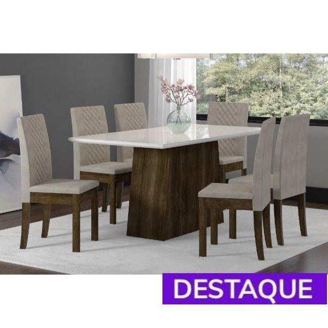 Mesa 6 Cadeiras Elegance - Catálogo completo via whats
