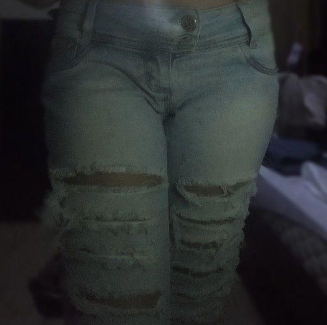 Calça Jeans Cintura Baixa Feminina