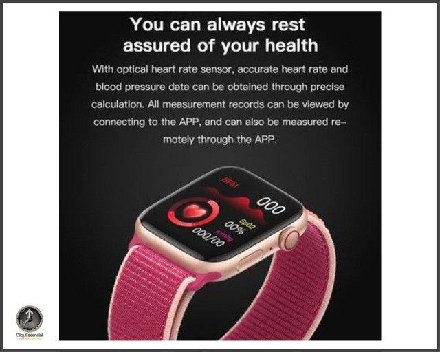 Relogio Inteligente Smartwatch Iwo 14 X7 Versão Atualizada - Foto 4